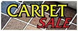 Carpet Sale Banner Flooring Carpeting Rugs Full Room Whole House Retail Store Sign 24x72