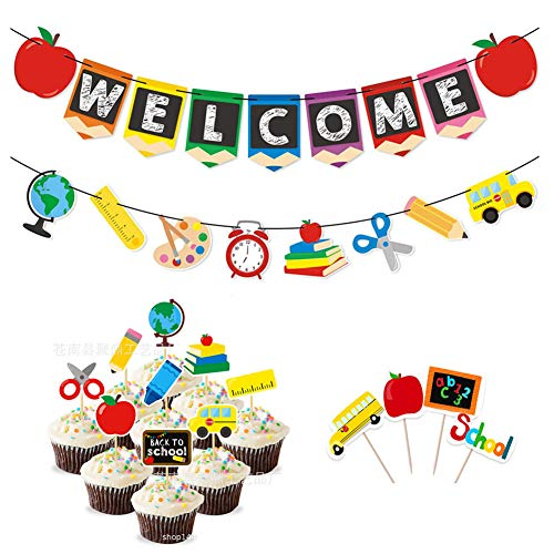 Back To School Dress Up Party - Welcome Banner Kids Back to School