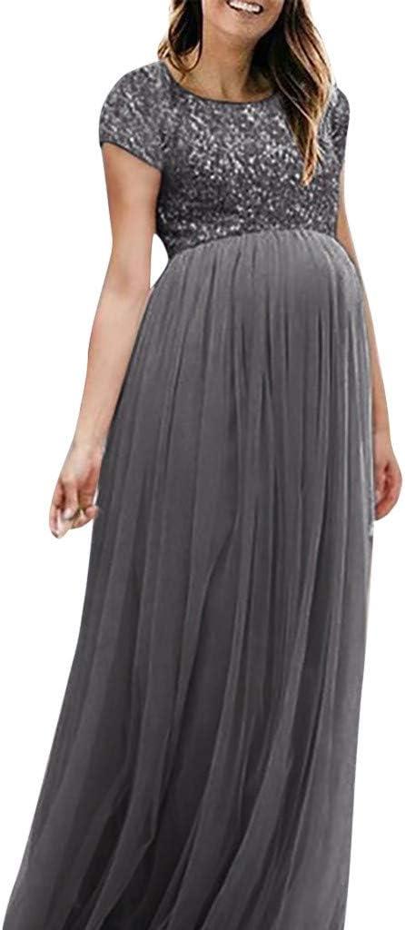 Juliyues Umstandskleid Fotoshooting Damen Fotografie Foto Lange Maxikleid Umstandskleider Schwangerschaft Mutterschaft Kleid Umstandskleidung