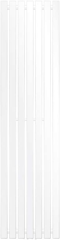 ECD Germany Radiador de panel Stella Design - 370 x 1400 mm - Blanco - Calefacción Central Agua - Toalleros de agua para la calefaccion