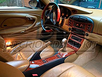 PORSCHE 911 996 TURBO INTERIOR BURL WOOD DASH TRIM KIT SET 1999 2000 2001