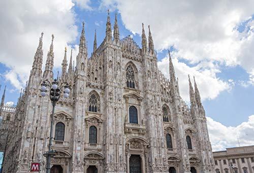 Leyiyi 7x5ft Photography Backdrop Milan Duomo Background Italian Gothic Catherdral Vintage Stone Building Baroque Stylle New Classic Catholic Church European Travel Photo Portrait Vinyl Studio ()