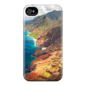 Apple Iphone 4/4s BPQ6911rzUk Allow Personal Design HD Hawaii Mountains Image Perfect Hard Cell-phone Case -LauraFuchs