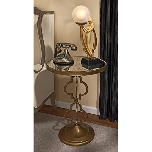 Design Toscano Film Noir Art Deco Mirrored Accent Table ()