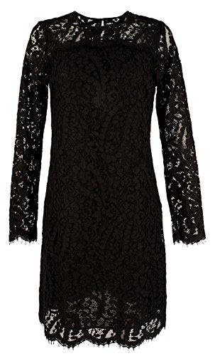 Michael Kors Women's Scalloped Lace Overlay Long Sleeve Dress-B-4