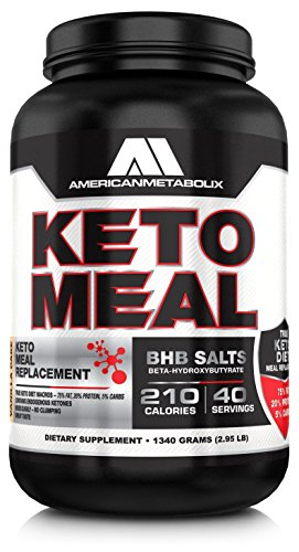 American Metabolix Keto Meal Vanilla Cake, 48 Ounce by American Metabolix
