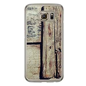 Loud Universe Samsung Galaxy S6 Madala N Marble A Wood 001 Printed Transparent Edge Case - Beige