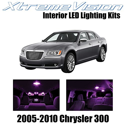 automotive, lights & lighting accessories, accent & off road lighting,  led & neon lights  discount, XtremeVision Interior LED for Chrysler 300/300C 2005-2010 (12 Pieces) Pink Interior LED Kit + Installation Tool in US5