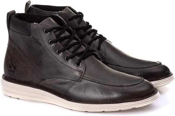 bota masculina em couro Oldsen Preta: Amazon.com.br