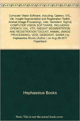 Computer Vision Software, Including: Opencv, VXL, Vtk