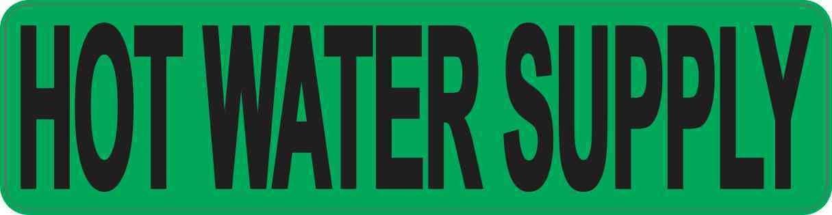 StickerTalk Pipe Marker Potable Water Vinyl Sticker 8 inches by 2 inches