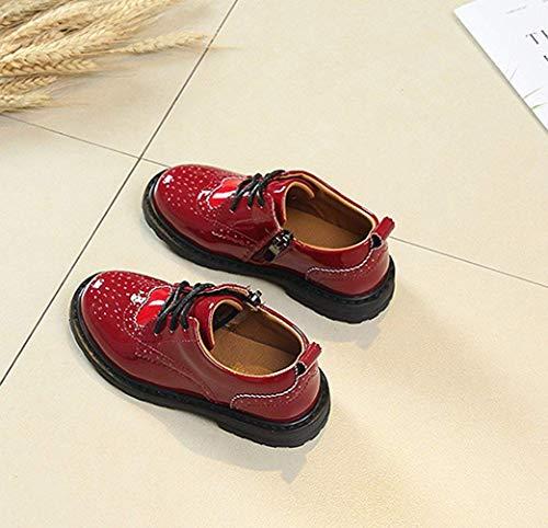 à rouge avec uk plein fermeture Chaussures couleur pour femme eu29 de 4 rouge taille Zhrui de éclair à les 10 antidérapante impact pour ans faible air enfant filles 16 FYfEwv0q