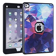 iPad Air 2 Case, iPad 6 Case, KAMII Shock-Absorption Three Layer Hybrid Armor Defender High Impact Resistant Full-Body Protection Case Cover for Apple iPad Air 2/ iPad 6 (9.7 Inch) (Black)