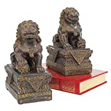 Design Toscano NY91366801 Chinese Guardian Lion Foo Dog Statue, Set of 2