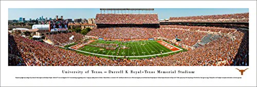 Texas Longhorns Football - Blakeway Panoramas Unframed Poster (Memorial Stadium Panoramic Print)