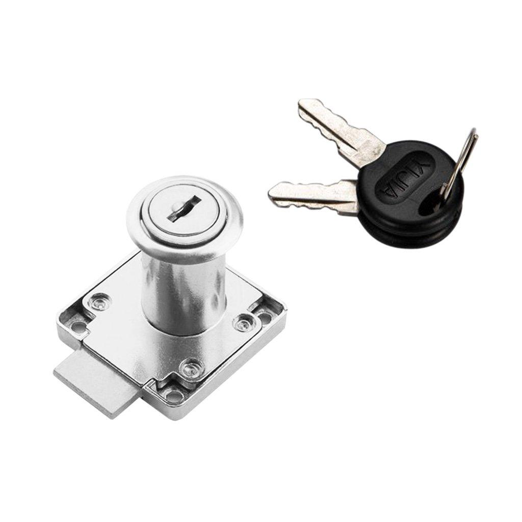 Sharplace 22mm/32mm Zylinder Hebelschloß mit 2 Schlüsseln - Schwarz 22mm non-brand