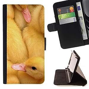 Momo Phone Case / Flip Funda de Cuero Case Cover - Patos lindos pollitos - LG OPTIMUS L90