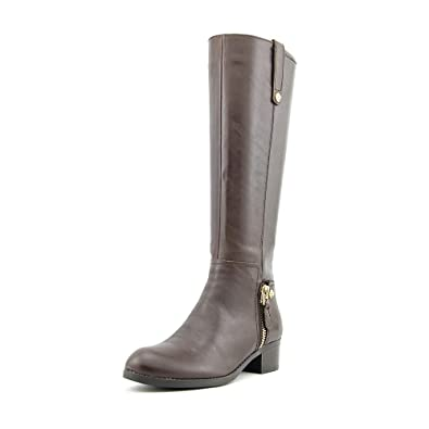 GUESS Women's Tafn Wide Calf Brown Nappa PU Boot 5.5 M