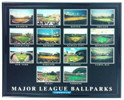 Framed Baseball American Major League Ballparks Aerial Print F7544A