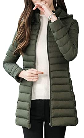 Wofupowga Boy Girl Quilted Hooded Thick Winter Cotton-Padded Down Parka Coat