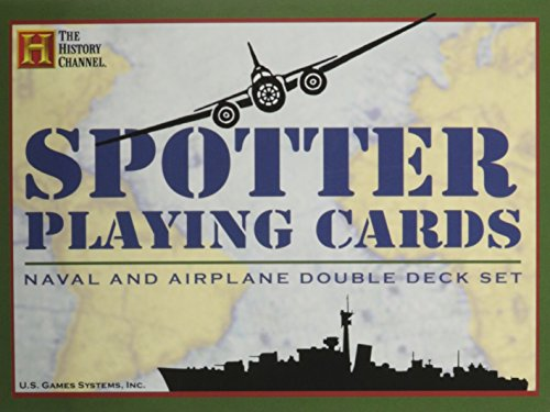 Spotter Playing Cards: Naval and Airplane Double Deck Set (History Channel) ()