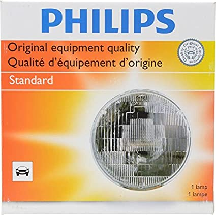 Amazon.com: Philips H6015C1 Standard Halogen Sealed Beam headlamp, 1 Pack: Automotive
