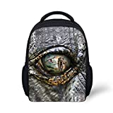Hoijay Preschool Backpack, Little Kid Backpacks for Boys and Girls Jurassic T - Rex Eye