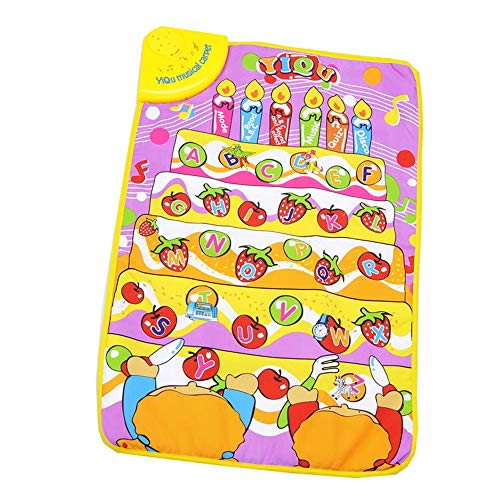 abet Learning Play Mat,Baby Touch Singing Letter Musical Mat - Educational Games Floor Carpet Toys for Toddler Girls Boys Kids 2 3 4 5 Years Old Gift,70 x 50CM (Multicolor) ()