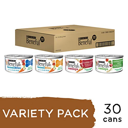 Purina Beneful Wet Dog Food Variety Pack, Incredibites & Medleys - (30) 3 oz. Cans