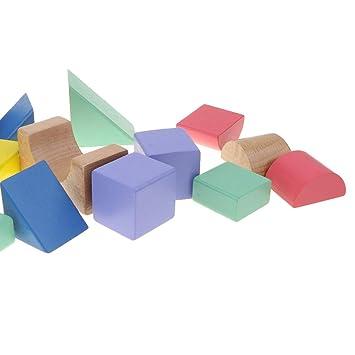 Holzbausteine Bauklötze Bausteine Holzspielzeug Pädagogisches Spielzeig Bauklötze