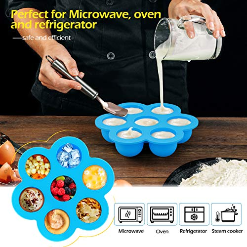 Pressure Cooker Accessories, Homemaxs 16 Pcs Instant Pot Accessories Compatible with 6,8,10Qt- Steamer Basket,Springform Pan,Egg Rack,Parchment Paper,Egg Bites Molds,Silicone Mitts - with Free Recipes by Homemaxs (Image #4)