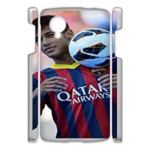 Personalized Durable Cases Google Nexus 5 White Phone Case Beddc Neymar Protection Cover