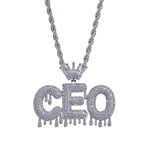 6b8545fe6f230 Poppyfly Custom Bubble Letters Pendant Micropave Simulated Diamond Iced Out  Bling Hip Hop Custom Name Necklace Bubble Letters Chain Pendants Necklace  ...