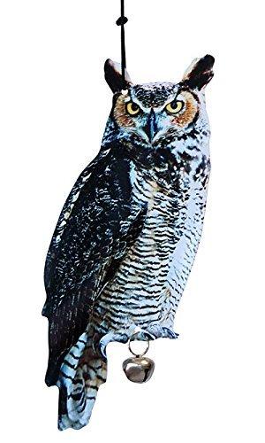 Esschert Design Hanging Scarecrow Owls, 15.25'', Pack of 4