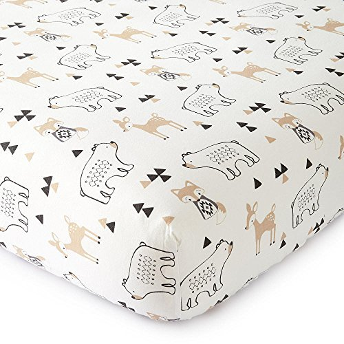 83424b2a5 Levtex Baby Bailey Charcoal Arrow Print Lamp Shade and Taupe Fox ...
