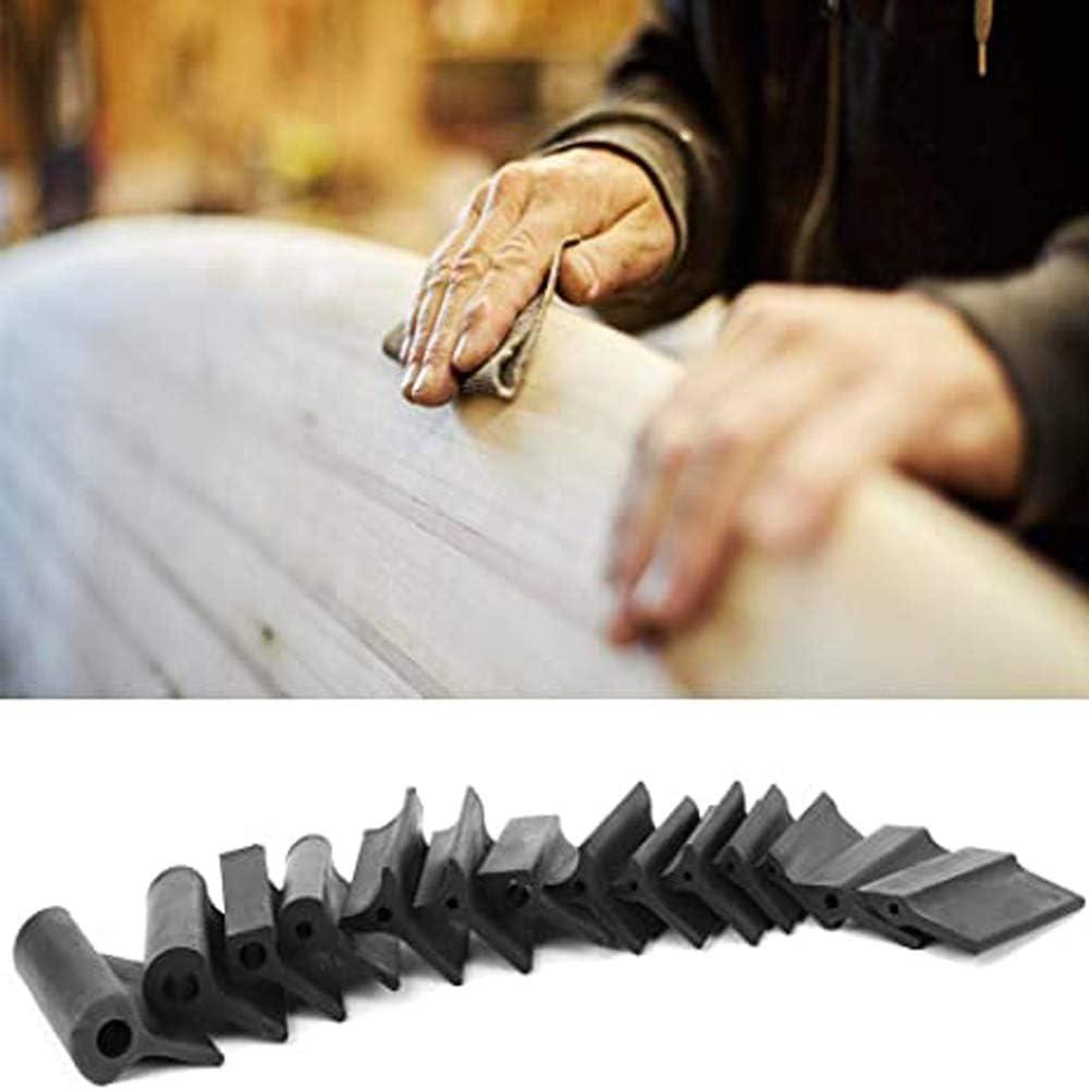 APROTII 14 Pi/èces de Bloc de Meulage en Caoutchouc Cadre de Papier de Verre Outils de Travail du Bois Tampons de Polissage Pad de Tour//Sculpture sur Bois Finition