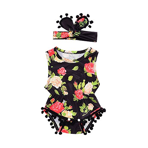 WOCACHI Infant Baby Girl Flowers Romper Jumpsuit Playsuit Headband Clothes Outfits Set Newborn Mom Daughter Son Coverall Layette Sets Best Gift Multi Adorable Dress-up Outfits