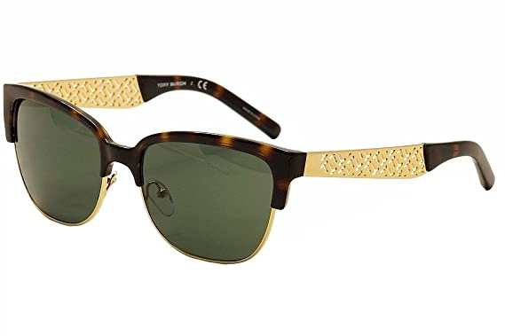 e8f1bb608c8ab Amazon.com  Tory Burch Women s TY6032 Tortoise Gold G15  Clothing
