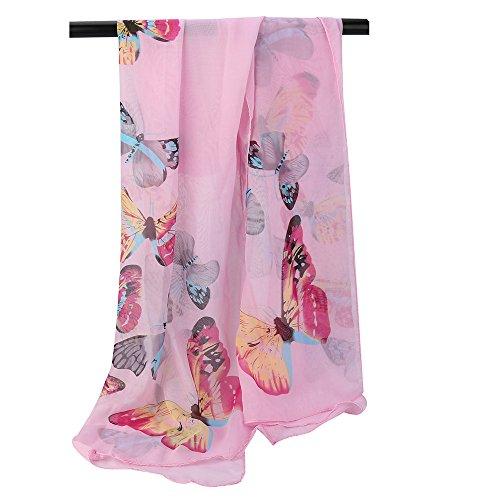 Fashion Women's Winter Scarf LightweightSoft Chiffon Printed Shawl Wrap Wraps Scarf Scarves HunYUN for $<!--$0.68-->