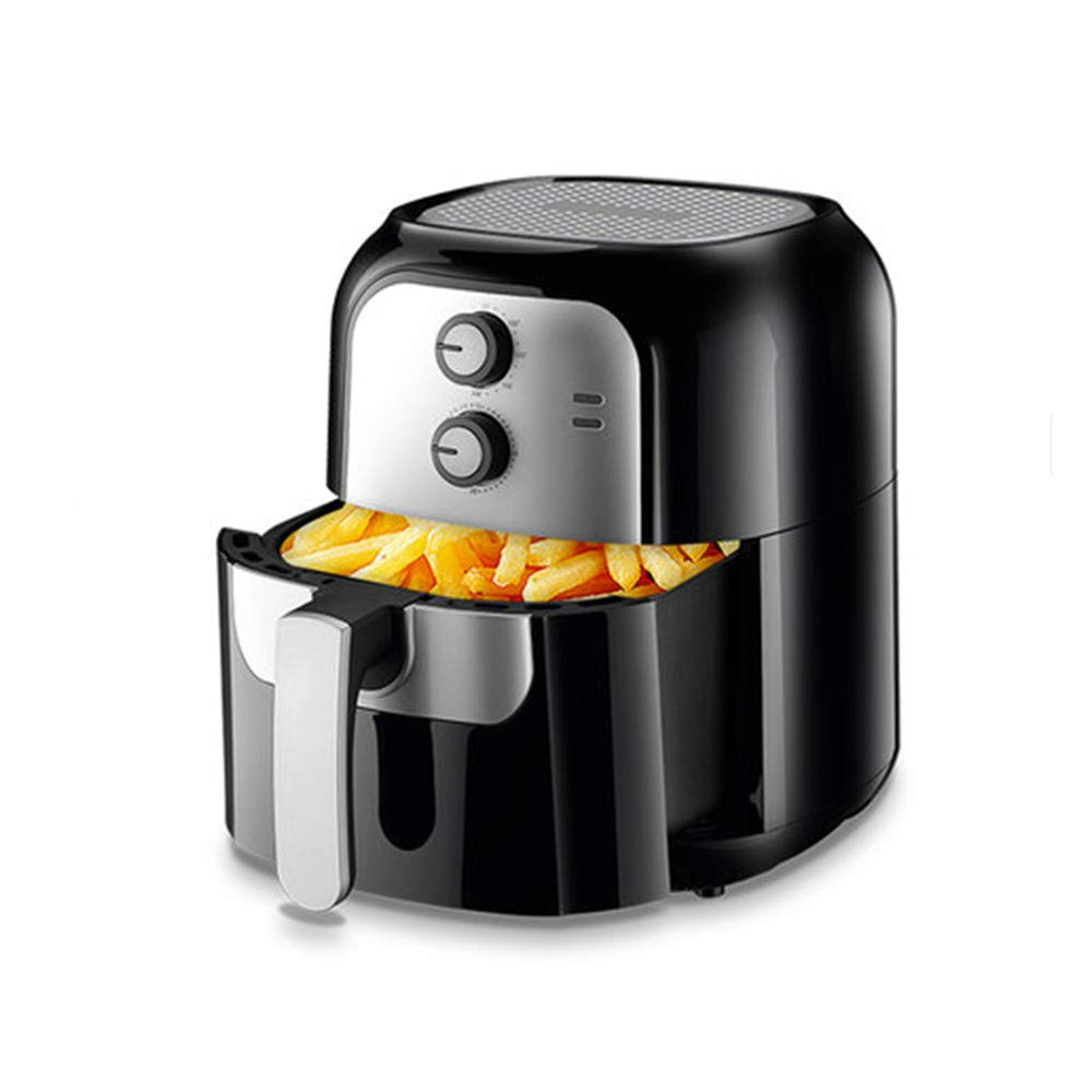 NAB325 Air Fryer, 6 Liter Temperature Controlled Oven Automatic Low Fat Fries Machine, Ideal for Home, Office, Travel, Black by NAB325