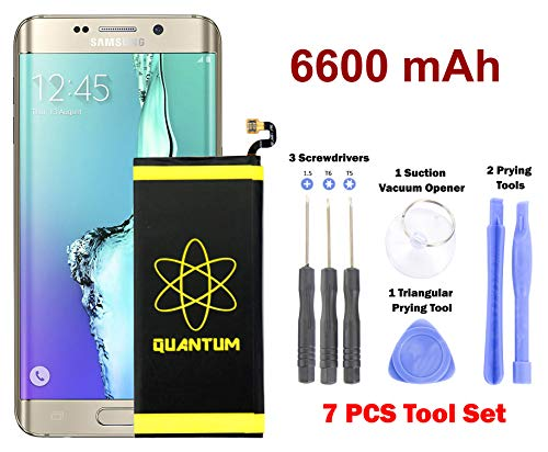 [Upgraded] Quantum Galaxy S6 Edge Plus Battery Replacement Kit, 6600mAh Extended Li-Polymer Replacement Battery for Samsung Galaxy S6 Edge Plus SM-G928 G928A G928T G928P with 7pc Too