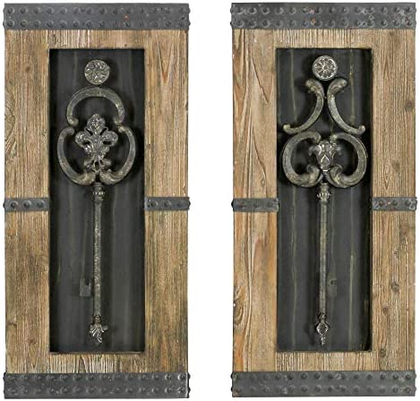 aspire Antique Key Wood Wall Decor – Set of 2