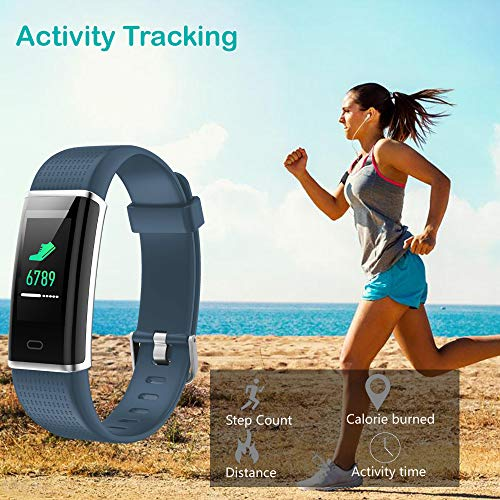 Willful Fitness Tracker, Heart Rate Monitor Fitness Watch Activity Tracker(14 Modes) Pedometer with Step Counter Sleep Monitor Call SMS SNS Notice for Women Men Kids (Gray+Black) by Willful (Image #3)