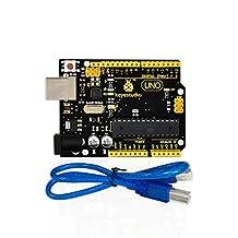 keyestudio UNO R3 ATmega328P Development Board with USB Cable Compatible with Arduino UNO R3