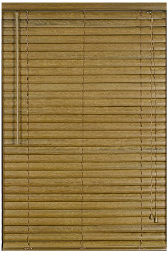- Achim Home Furnishings Luna 2-Inch Vinyl Blind, 32-Inch by 64-Inch, Woodtone