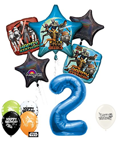 2nd Birthday Star Wars Rebels Party Decorations Balloons Bouquet Bundle