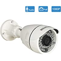 HOSAFE POE IP Camera Outdoor 1080P with Audio , Home Security Surveillance Camera, 50ft night vision, Motion Detection…