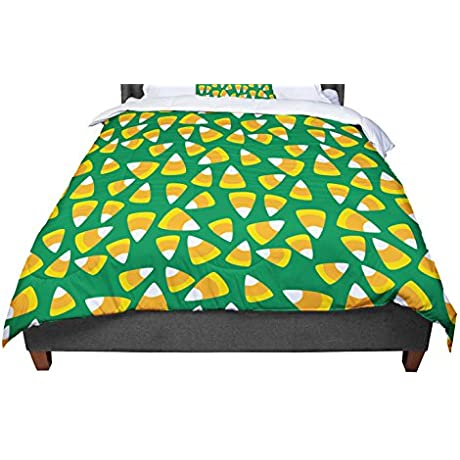 KESS InHouse KESS Original Kandy Korn Green Twin Comforter 68 X 88