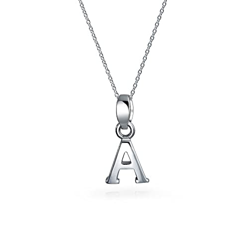 50917a2a19cc6 Amazon.com: Abc Capital Block Letter Alphabet A Initial Pendant ...