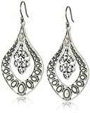 Lucky Brand Silver Filigree Oblong Earrings